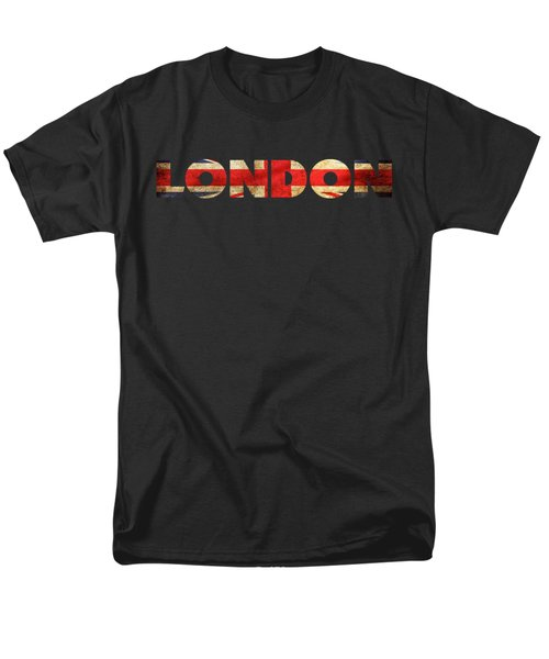 London Vintage British Flag Tee Men's T-Shirt  (Regular Fit) by Edward Fielding