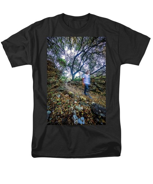 Long Exposure Peddernales Falls State Park Hike Men's T-Shirt  (Regular Fit) by Micah Goff