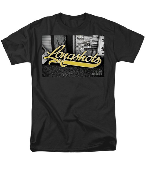Men's T-Shirt  (Regular Fit) featuring the photograph Longshots - Sign by Colleen Kammerer