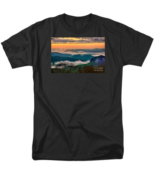 Looking Glass In The Blue Ridge At Sunrise Men's T-Shirt  (Regular Fit)