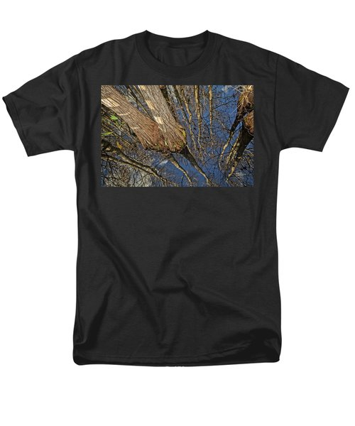 Men's T-Shirt  (Regular Fit) featuring the photograph Looking Up While Looking Down by Debra and Dave Vanderlaan