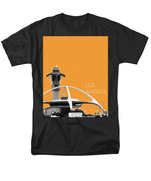 Los Angeles Skyline Lax Spider - Orange Men's T-Shirt  (Regular Fit) by DB Artist
