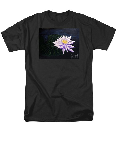 Men's T-Shirt  (Regular Fit) featuring the painting Lotus Blossom At Night by Patricia Griffin Brett