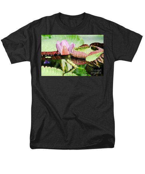 Lotus Flower In Water Men's T-Shirt  (Regular Fit) by Yurix Sardinelly