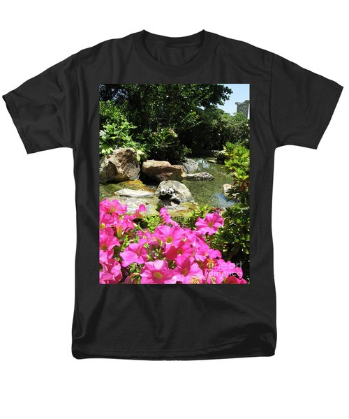 Men's T-Shirt  (Regular Fit) featuring the photograph Love On The Rocks- Los Angeles- Pandas by Ausra Huntington nee Paulauskaite