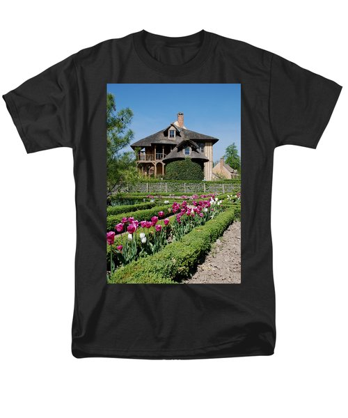 Men's T-Shirt  (Regular Fit) featuring the photograph Lovely Garden And Cottage by Jennifer Ancker
