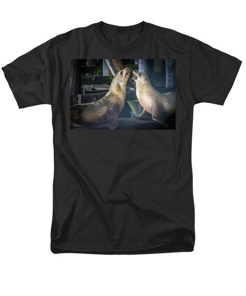 Harbor Seals Lovers Quarrel Men's T-Shirt  (Regular Fit) by James Hammond