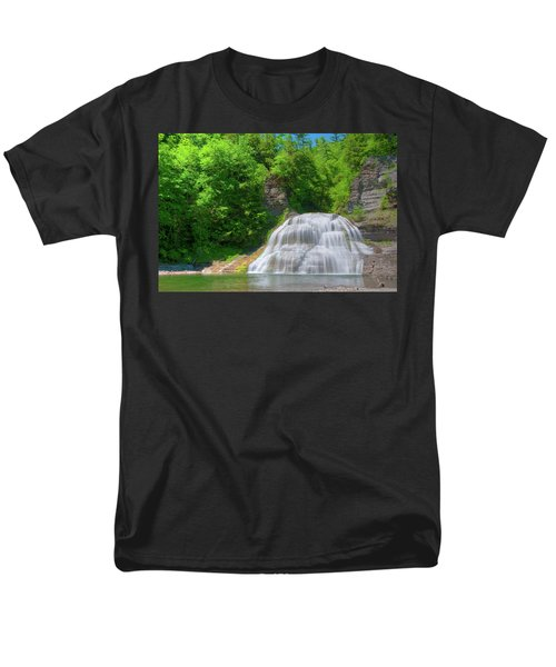 Men's T-Shirt  (Regular Fit) featuring the photograph Lower Falls 0485 by Guy Whiteley