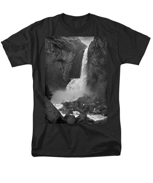 Lower Yosemite Falls Men's T-Shirt  (Regular Fit) by Martin Konopacki