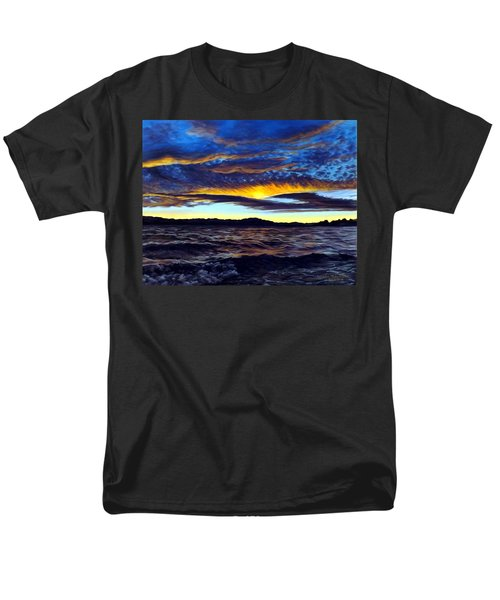 Lucerne Sunset Men's T-Shirt  (Regular Fit) by Linda Becker