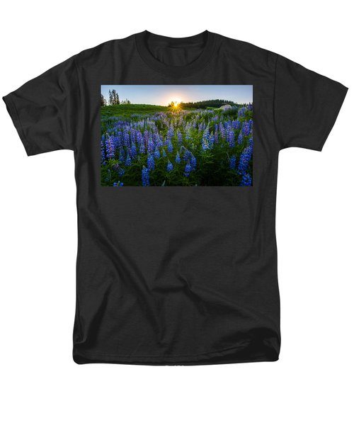 Lupine Meadow Men's T-Shirt  (Regular Fit) by Dustin  LeFevre