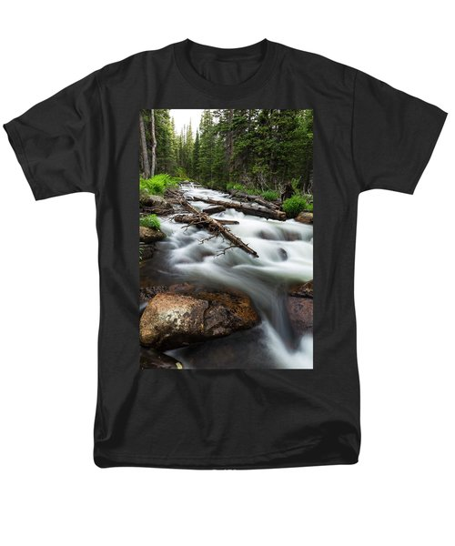 Men's T-Shirt  (Regular Fit) featuring the photograph Magic Mountain Stream by James BO Insogna