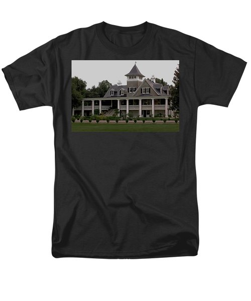 Magnolia Plantation Home Men's T-Shirt  (Regular Fit) by DigiArt Diaries by Vicky B Fuller