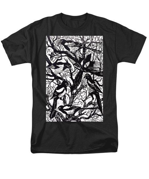 Magpies Men's T-Shirt  (Regular Fit) by Nat Morley