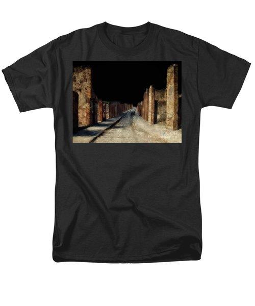 Men's T-Shirt  (Regular Fit) featuring the digital art Main Street, Pompeii by Lois Bryan