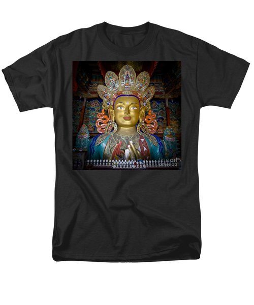Maitreya Buddha Men's T-Shirt  (Regular Fit) by Hitendra SINKAR