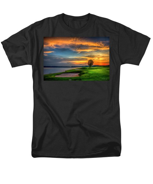 Men's T-Shirt  (Regular Fit) featuring the photograph Majestic Number 4 The Landing Reynolds Plantation Art by Reid Callaway