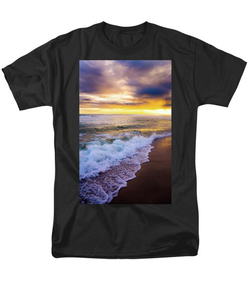Men's T-Shirt  (Regular Fit) featuring the photograph Majestic Sunset In Paradise by Shelby Young