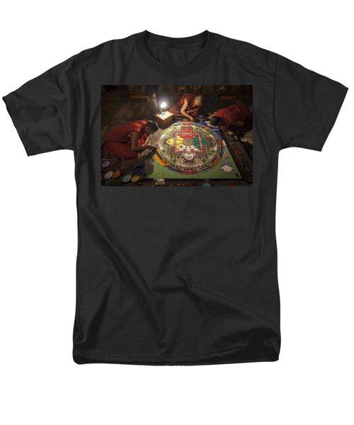 Making Of Mandala Men's T-Shirt  (Regular Fit) by Hitendra SINKAR
