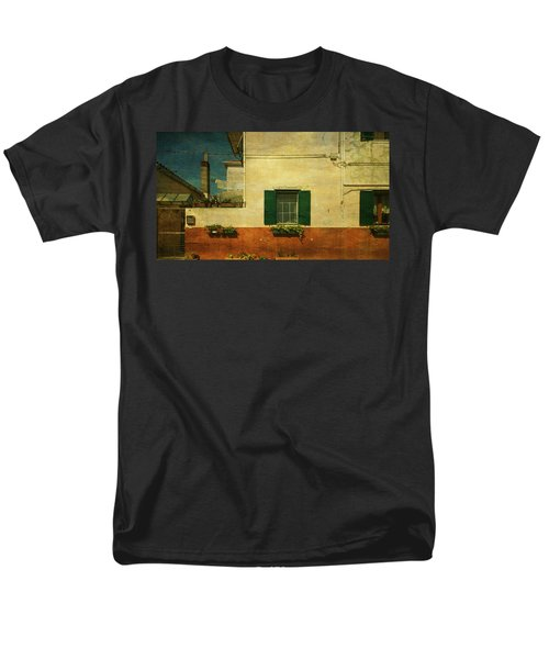 Men's T-Shirt  (Regular Fit) featuring the photograph Malamocco Facade No1 by Anne Kotan