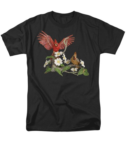 Male And Female Cardinals  Men's T-Shirt  (Regular Fit) by Walter Colvin