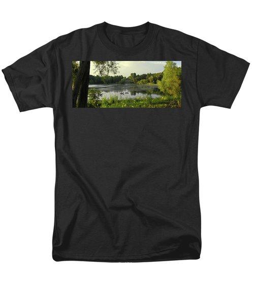 Mallards Lake II Men's T-Shirt  (Regular Fit) by Doug Kreuger