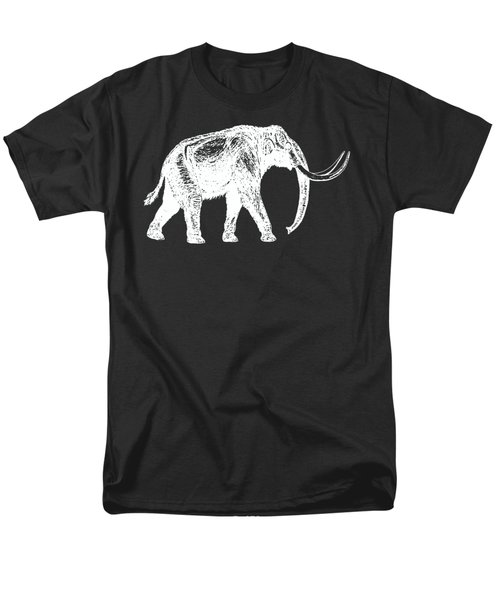 Mammoth White Ink Tee Men's T-Shirt  (Regular Fit) by Edward Fielding