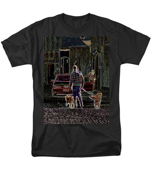 Men's T-Shirt  (Regular Fit) featuring the photograph Man And Best Friends by Rhonda McDougall