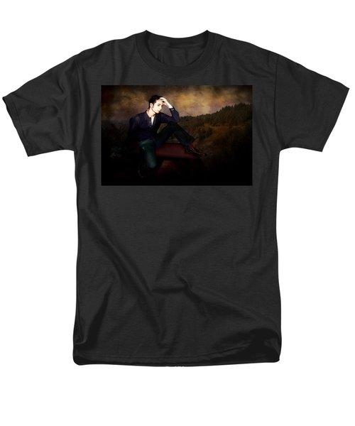 Man On A Bench Men's T-Shirt  (Regular Fit) by Jeff Burgess