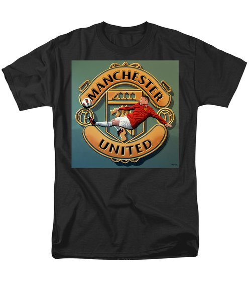 Manchester United Painting Men's T-Shirt  (Regular Fit) by Paul Meijering