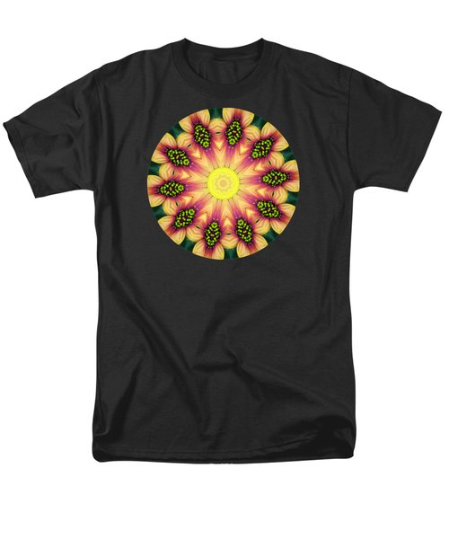 Mandala Yellow Burst Men's T-Shirt  (Regular Fit) by Hao Aiken