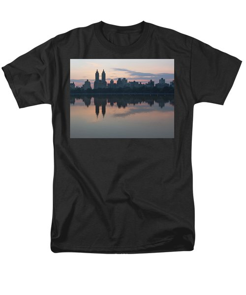 Manhattan At Night  Men's T-Shirt  (Regular Fit) by Yvonne Wright