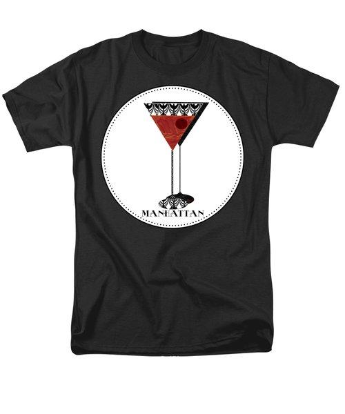 Manhattan Cocktail Pop Art Deco Men's T-Shirt  (Regular Fit) by Cecely Bloom