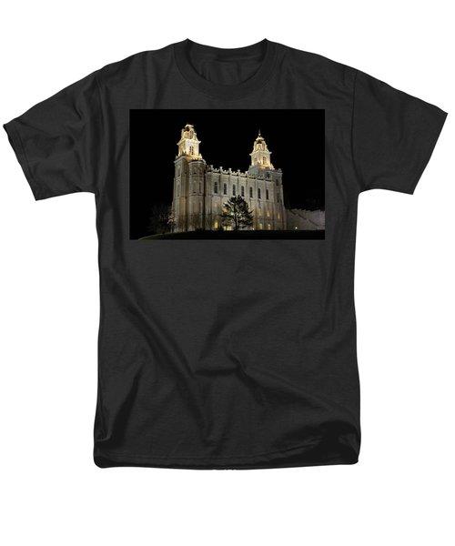 Manti Temple Night Men's T-Shirt  (Regular Fit) by David Andersen