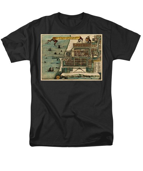 Map Of Java 1669 Men's T-Shirt  (Regular Fit) by Andrew Fare