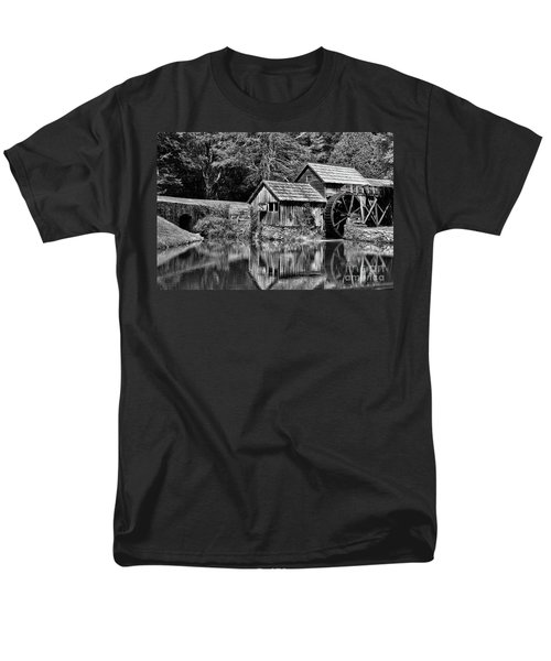 Marby Mill In Black And White Men's T-Shirt  (Regular Fit) by Paul Ward