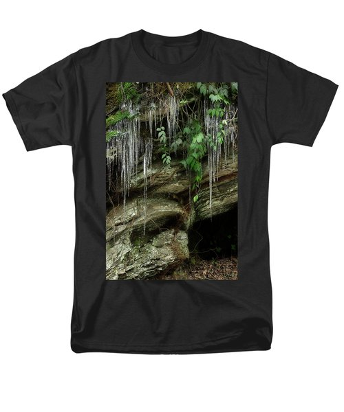 Men's T-Shirt  (Regular Fit) featuring the photograph March Icicles 2 by Mike Eingle
