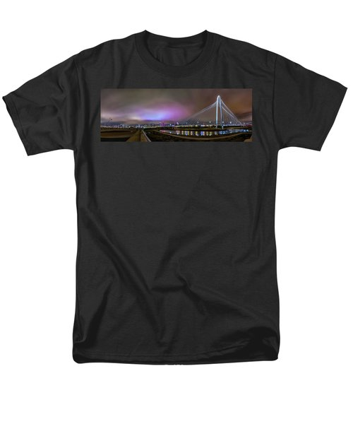 Margaret Hunt Hill Bridge - Dallas Texas Men's T-Shirt  (Regular Fit) by Micah Goff
