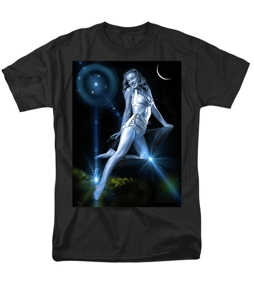 Men's T-Shirt  (Regular Fit) featuring the photograph Marilyn Monroe - A Star Was Born by Glenn Feron