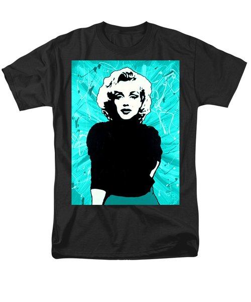 Marilyn Monroe Blue Green Aqua Tint Men's T-Shirt  (Regular Fit) by Bob Baker