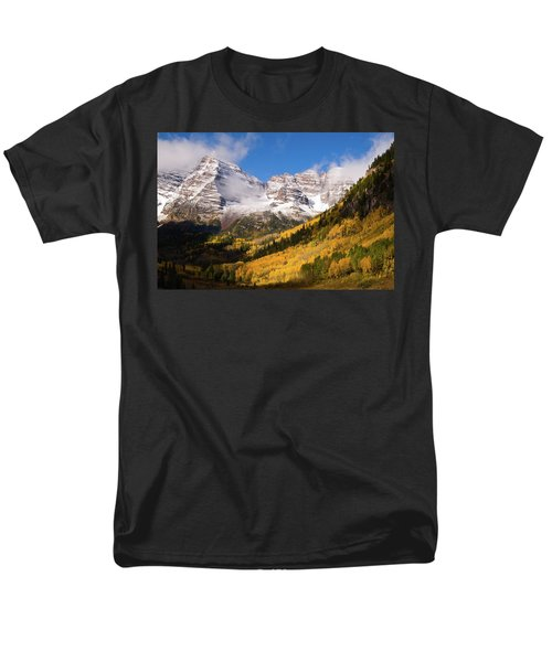 Men's T-Shirt  (Regular Fit) featuring the photograph Maroon Bells by Steve Stuller