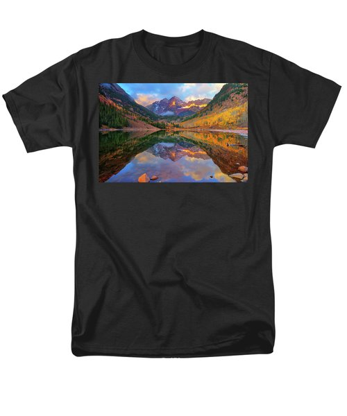 Maroon Lake Dawn Men's T-Shirt  (Regular Fit) by Greg Norrell