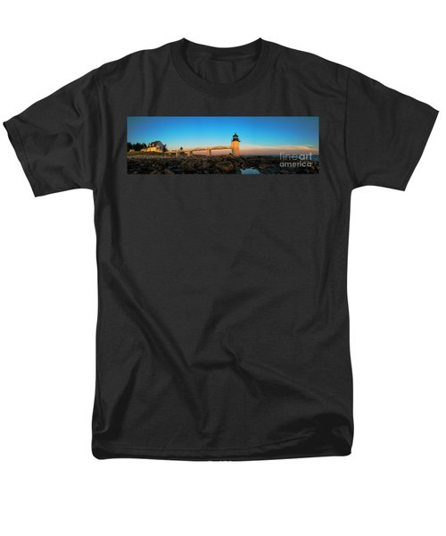 Marshall Point Lighthouse Men's T-Shirt  (Regular Fit) by Diane Diederich