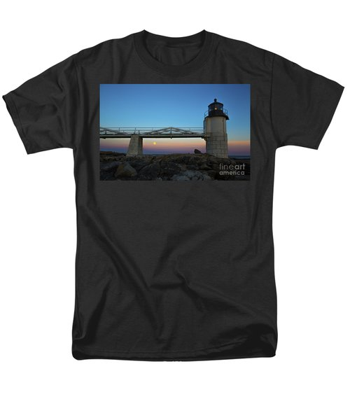 Marshall Point Lighthouse With Full Moon Men's T-Shirt  (Regular Fit) by Diane Diederich