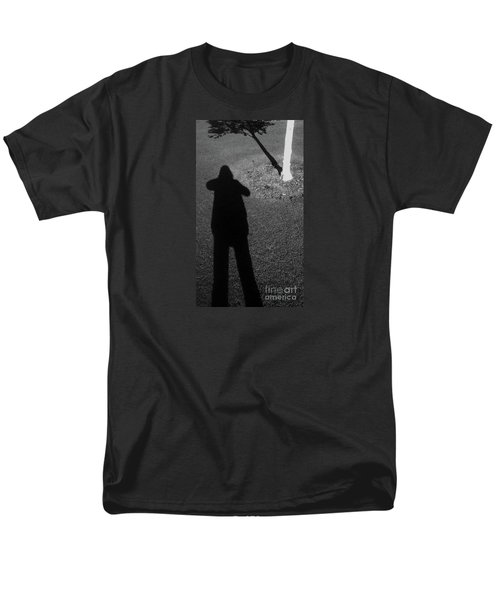 Me And My Shadow Men's T-Shirt  (Regular Fit) by Nareeta Martin