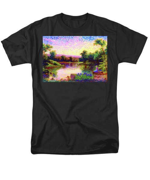 Men's T-Shirt  (Regular Fit) featuring the painting  Meditation, Just Be by Jane Small
