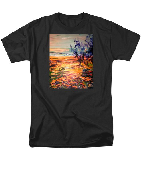 Men's T-Shirt  (Regular Fit) featuring the painting Memory Pandanus by Winsome Gunning