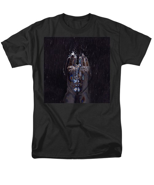 Men Are From Mars Silver Men's T-Shirt  (Regular Fit) by ISAW Gallery