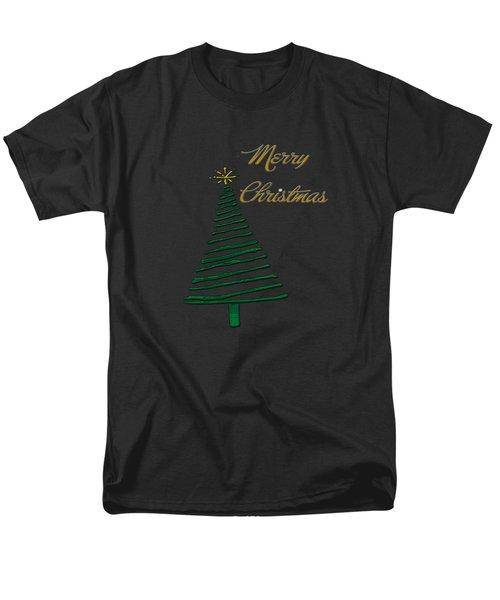 Merry Christmas Tree Men's T-Shirt  (Regular Fit) by Judy Hall-Folde