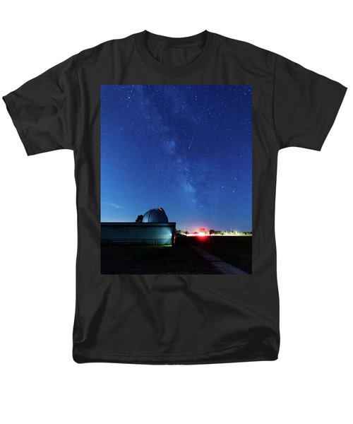 Meteor And Observatory Men's T-Shirt  (Regular Fit) by Jay Stockhaus